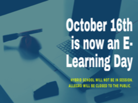 October 16th is now an E-Learning Day.