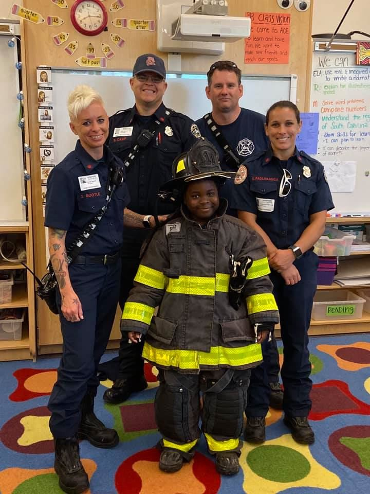 The Charleston and St. John's Fire Districts shared about fire safety during Fire Prevention Month!