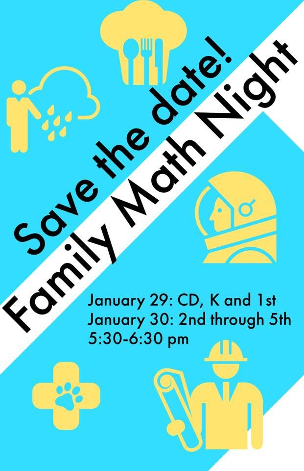 Save the Date for Family Math Night!