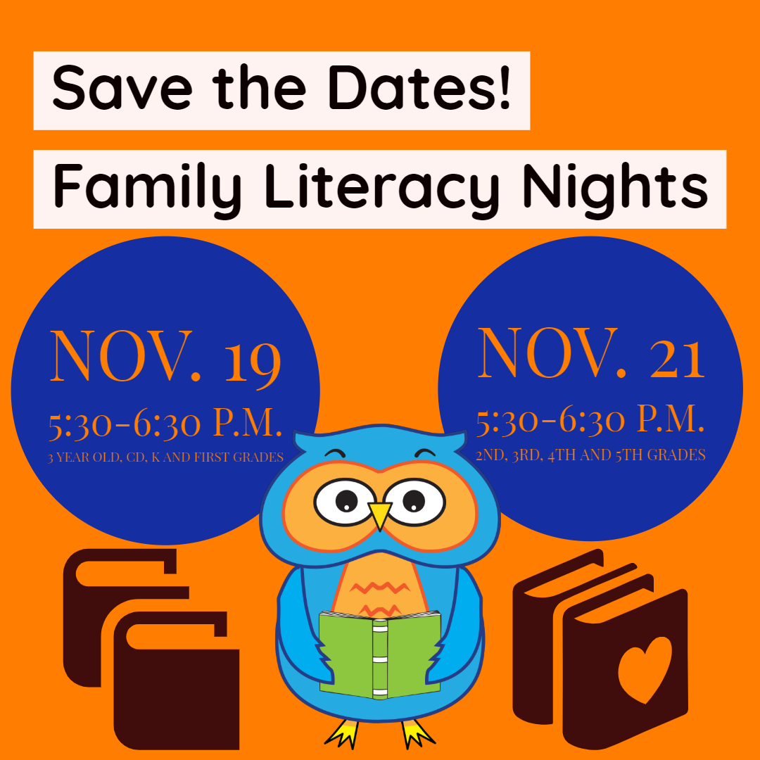 Family Literacy Nights are coming!