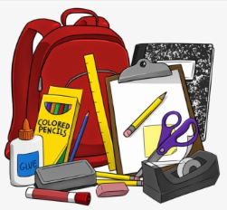 Picture of book bag and school supplies