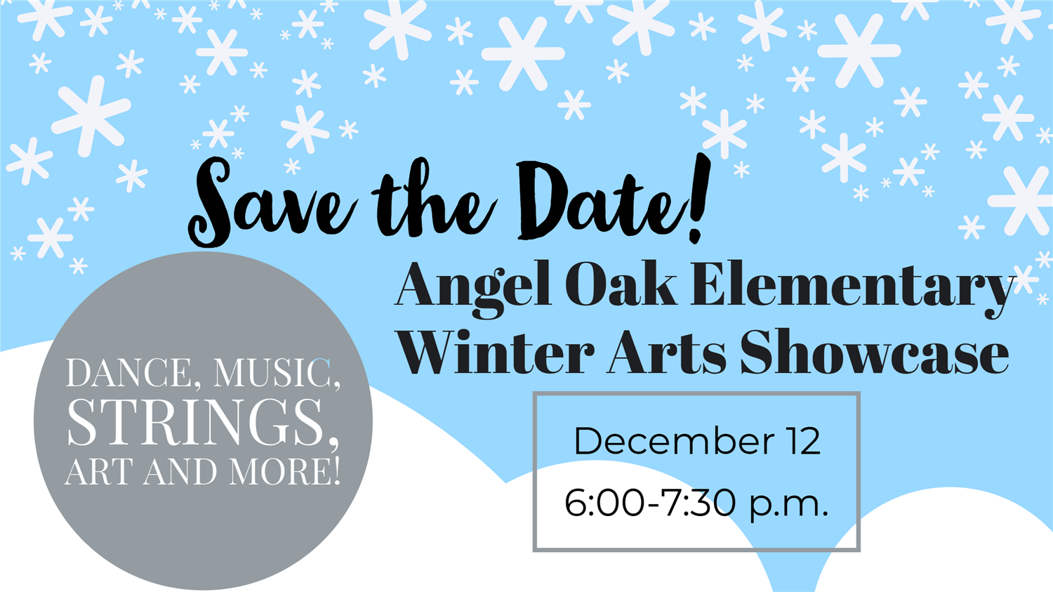 Winter Arts Showcase: Save the Date!