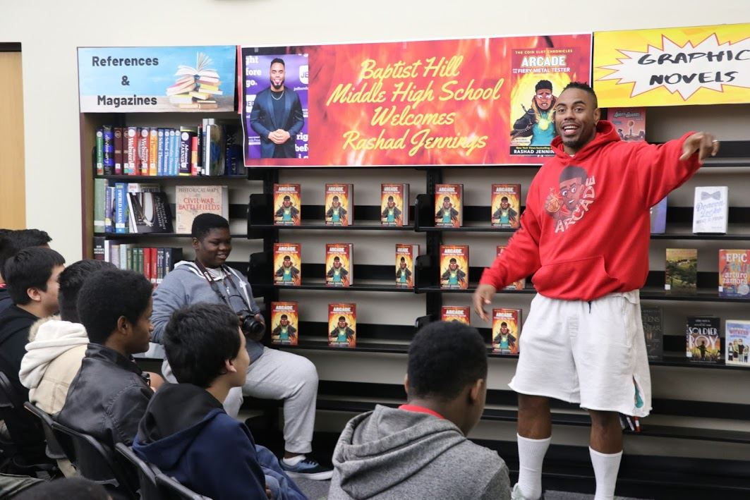 Former NFL RB and best-selling author visits BHMHS