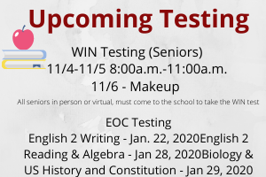 Upcoming Testing Dates