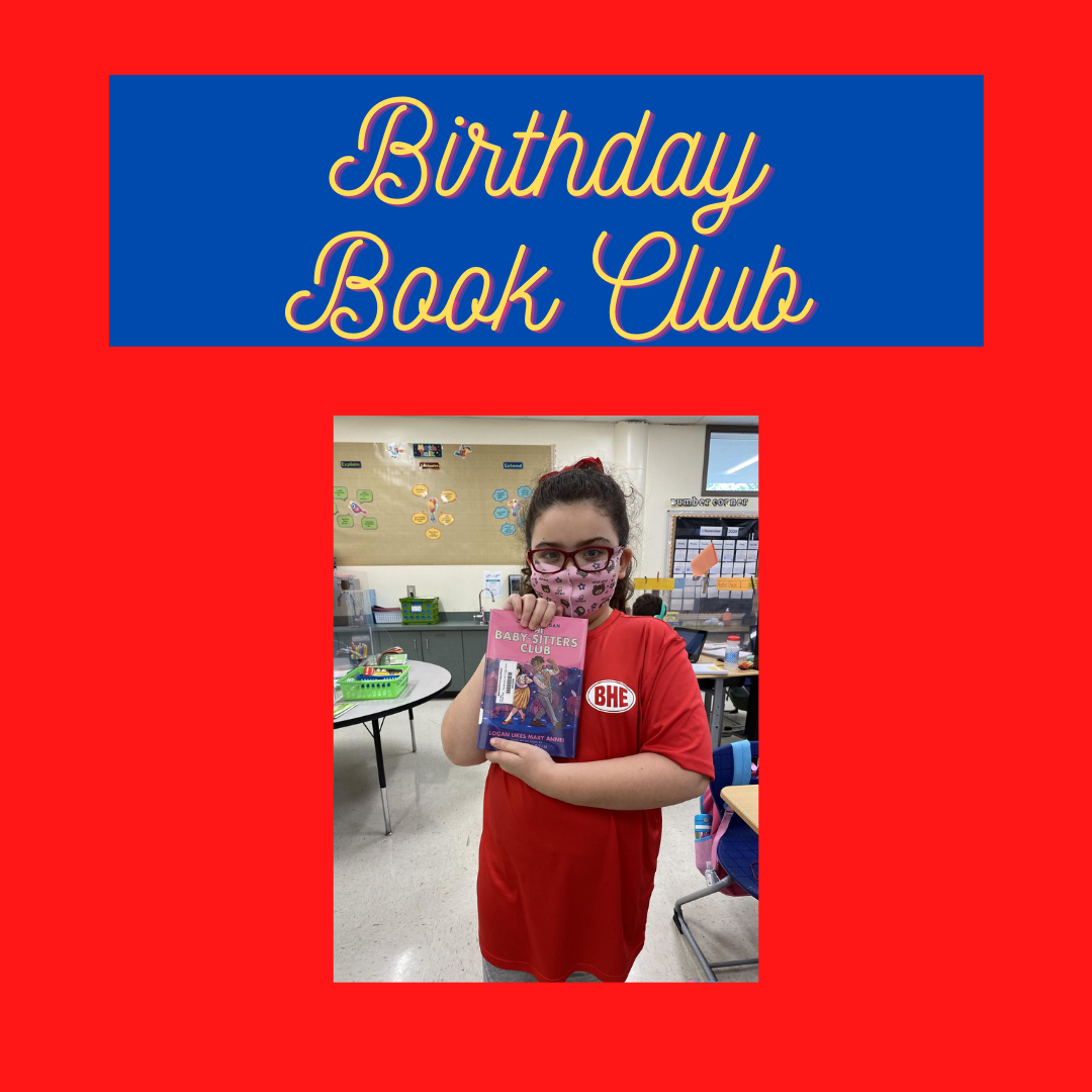 masked girl holding up babysitter's club book