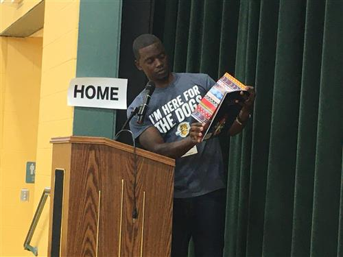 Chris Singleton reads from his new book