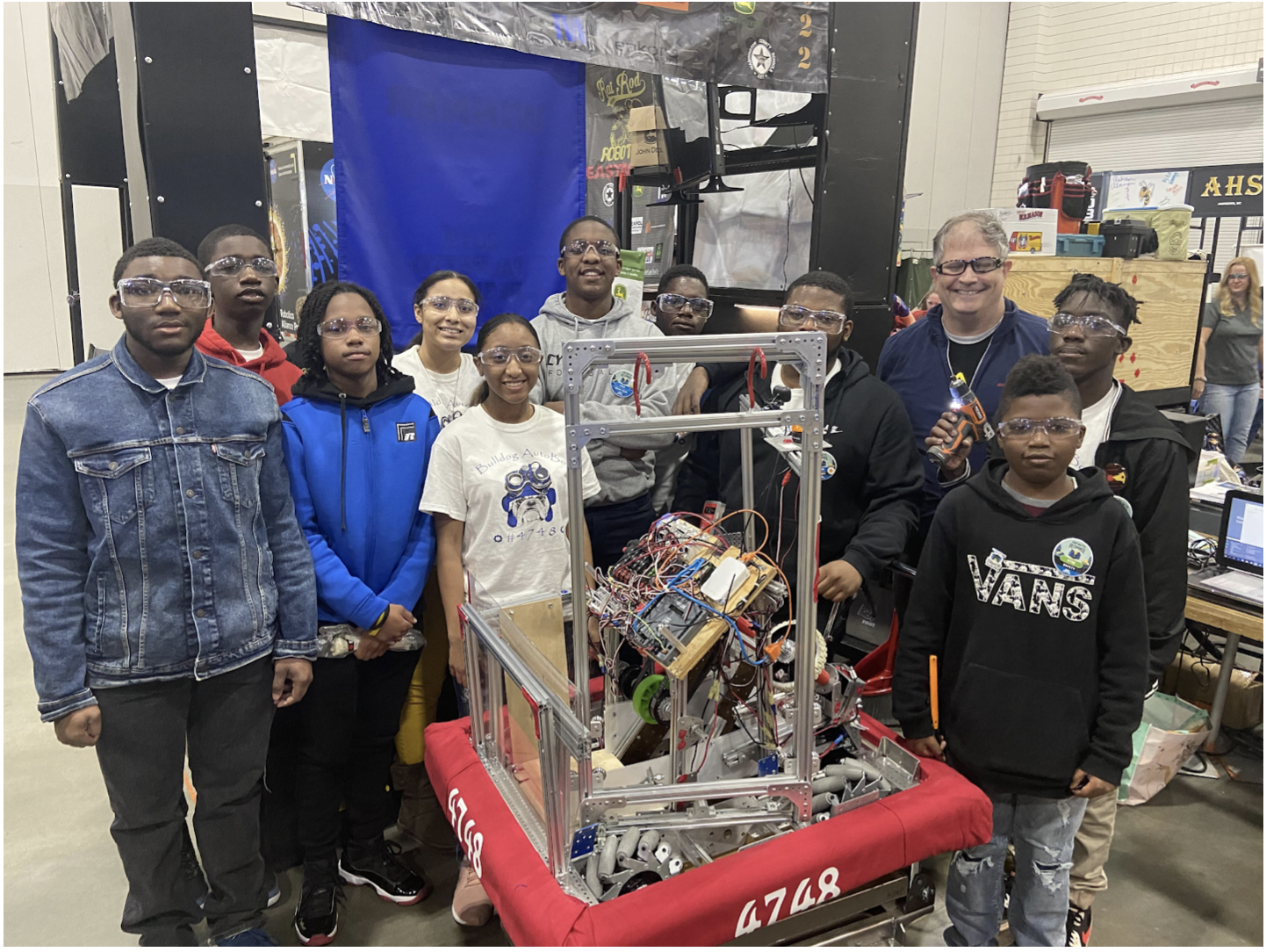 Burke Bulldog Auto Bots 4748 attend First Robotics Competition in Myrtle Beach