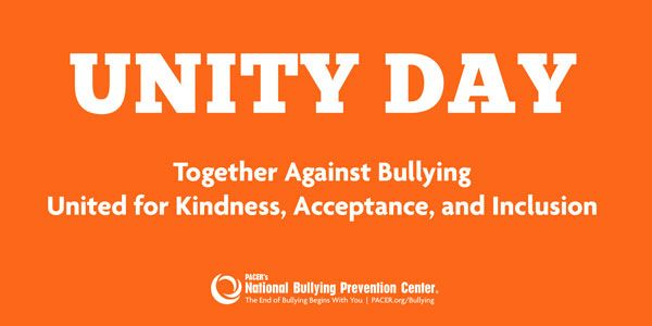 Wear Orange Oct. 21 for Unity Day