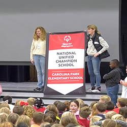 Carolina Park ES Honored as an Official Special Olympics National Banner Unified Champion School