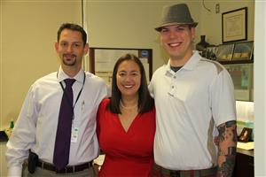 photo of Erin Gruwell and JZMS principal Jacob Perlmutter