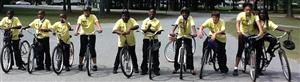 photo of students on bikes