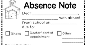 Absence Note Image