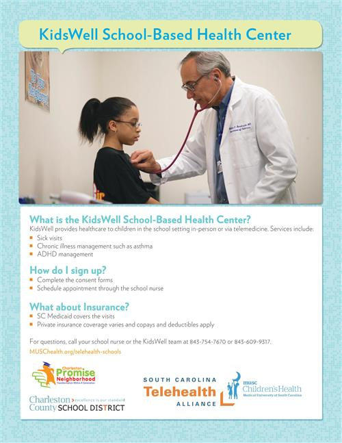 KidsWell School-Based Health Center Flyer (English)