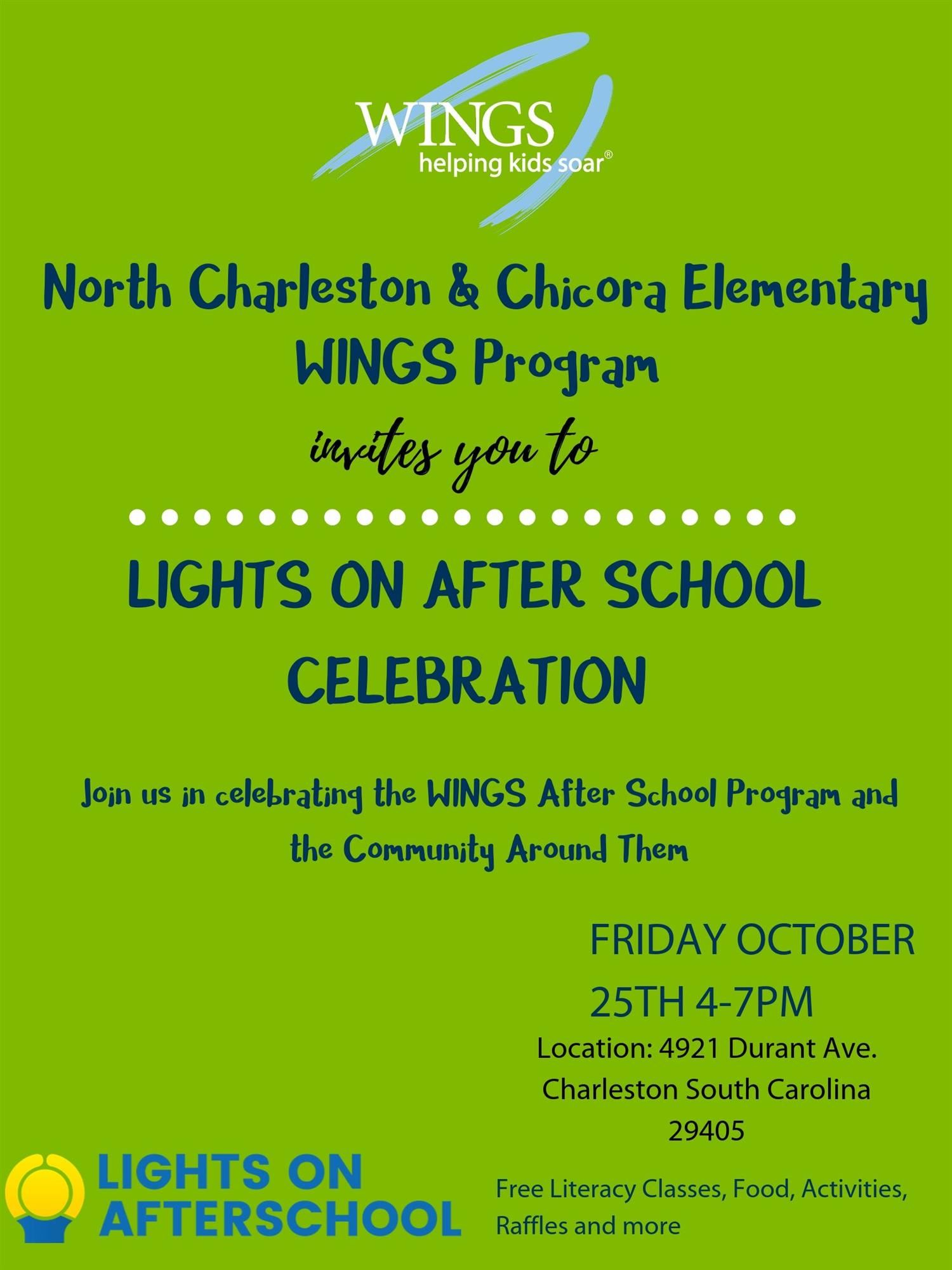 WINGS Lights on After School Celebration