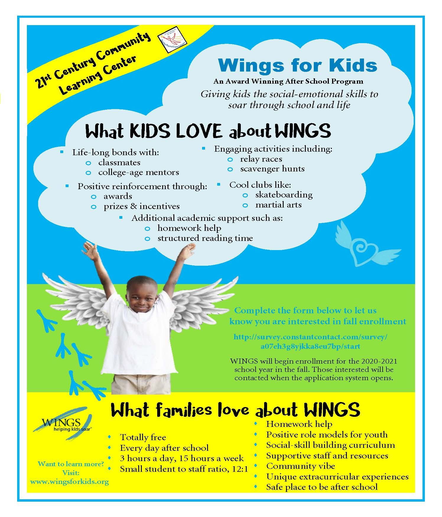 Interested in Wings for the 2020-2021 School Year?
