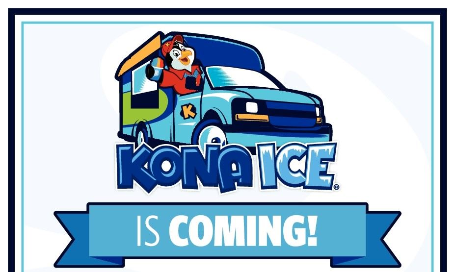 Picture of a penguin in an icecream truck- Kona Ice