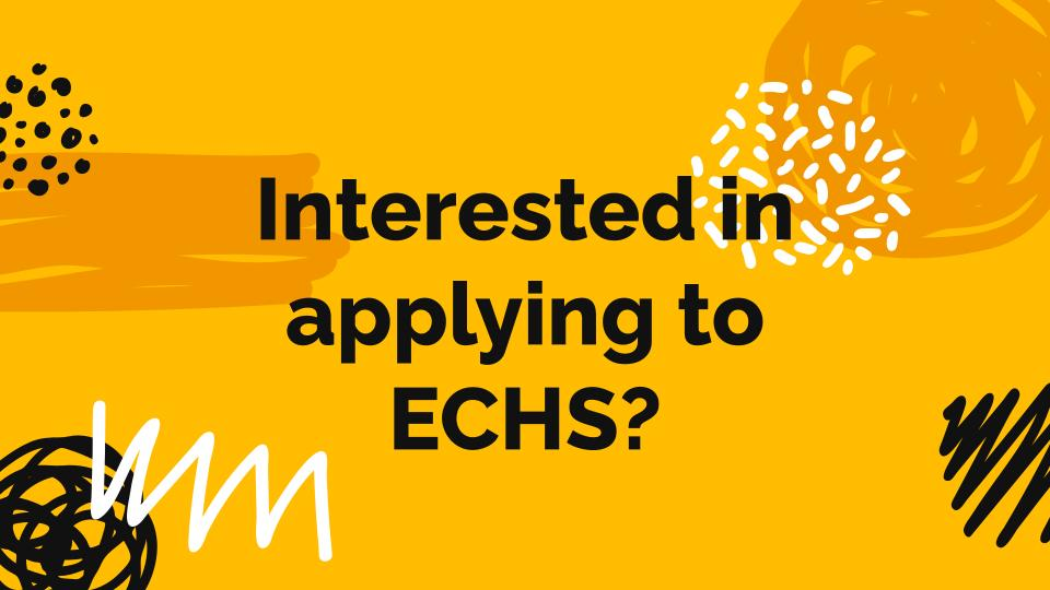 Interested in Applying to ECHS?