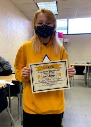 Sophomore Student of the Month - Zoe