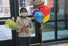 C.E. Williams' Keerthana Samuel defends CCSD Spelling Bee crown with virtual victory