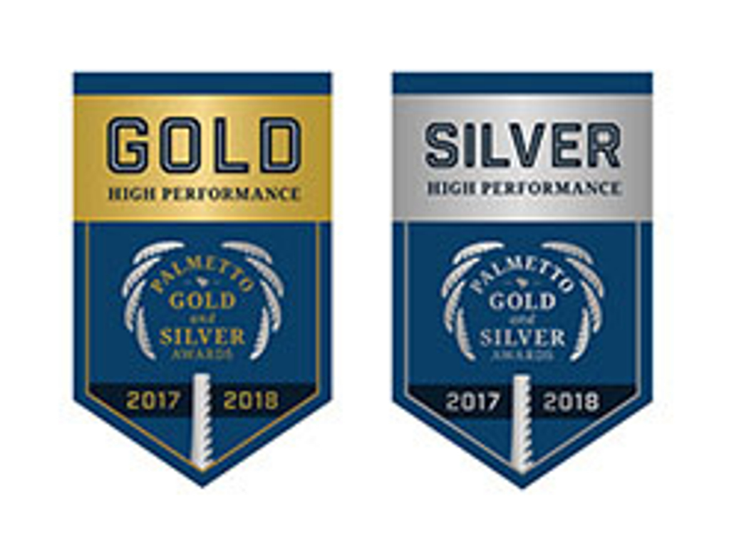JICHS Named a Palmetto Gold and Silver School