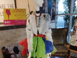 picture of mannequin wearing student design