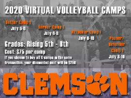 Clemson Virtual Volleyball Camps