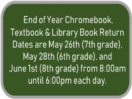 End of Year Information for Students & Parents