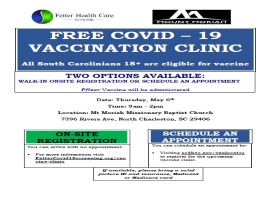 Free Vaccine Clinic Thursday, May 6th