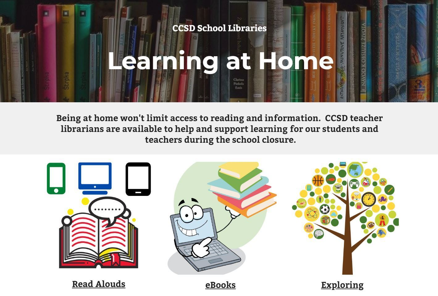 CCSD Libraries Learning at Home
