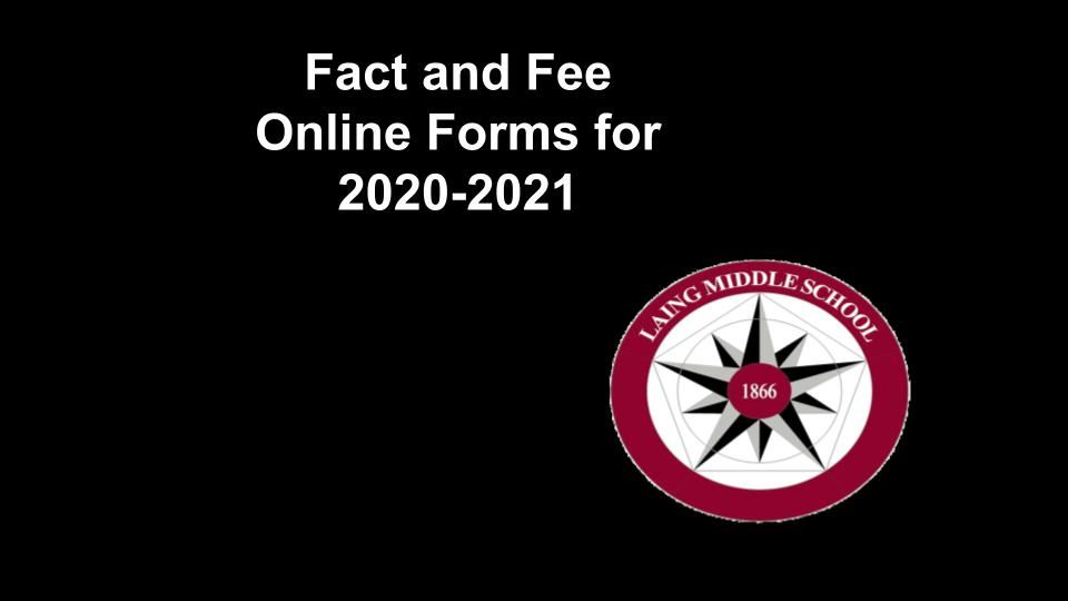 Fact and Fee Online Forms