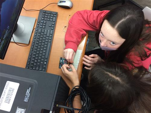 STEM students at Laing work hands-on