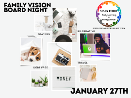 Family Vision Board Night 1/27