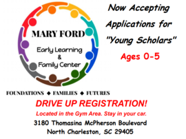 Mary Ford Learning Center Logo Drive In Registration