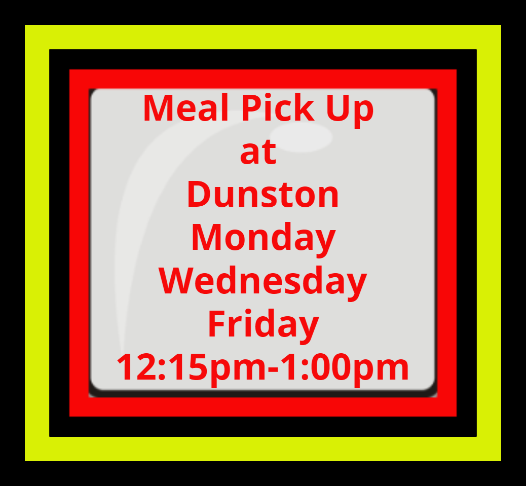 Curbside meal schedule logo