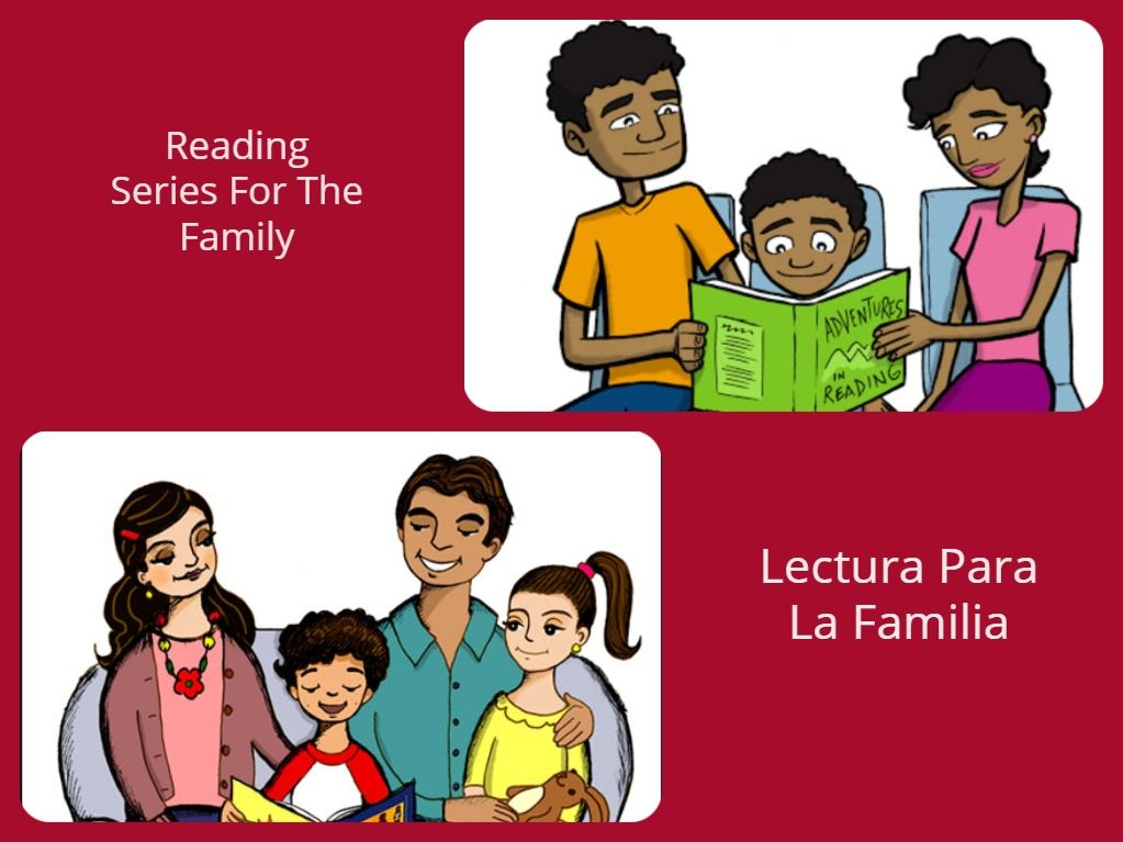 Clip Art of Families Reading Together