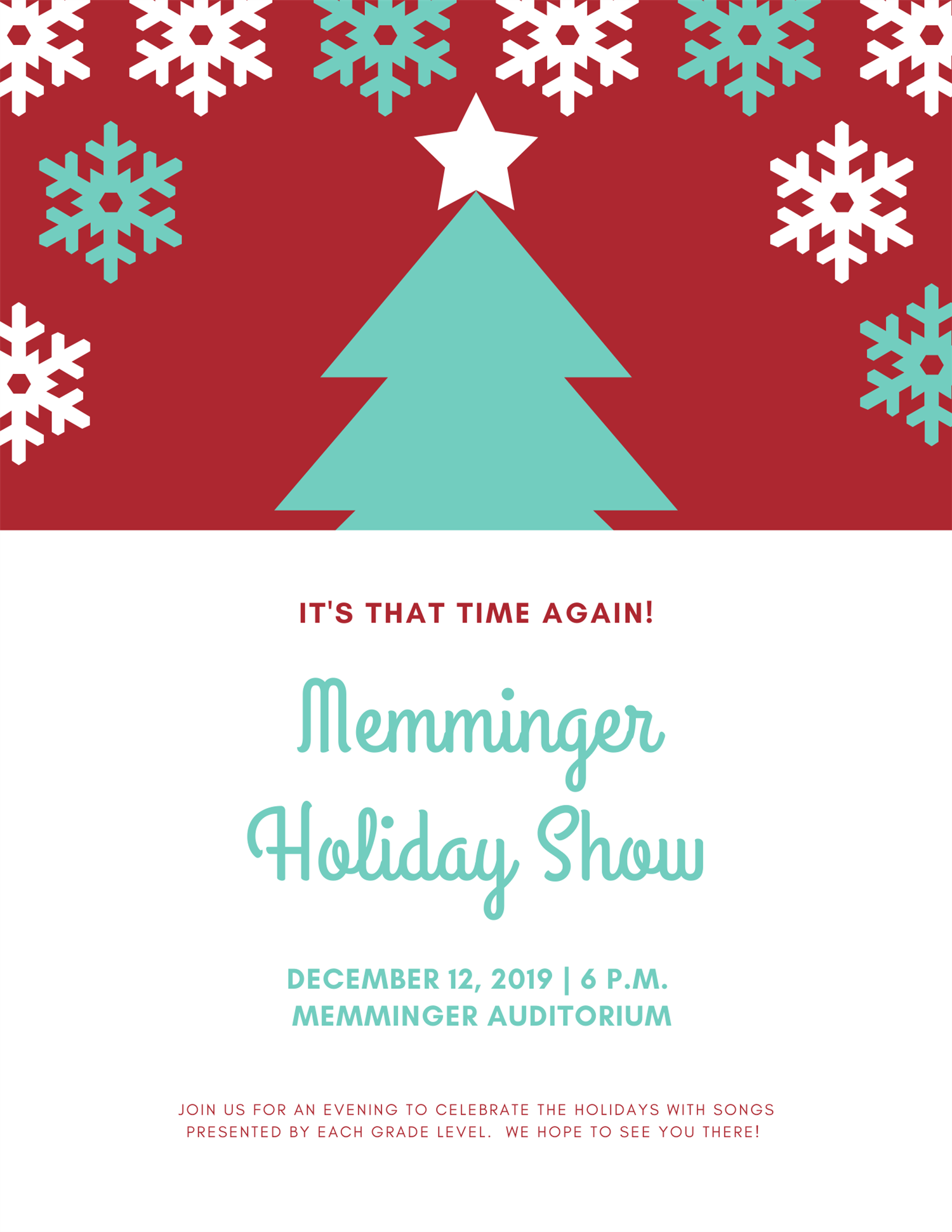 Memminger Holiday Show