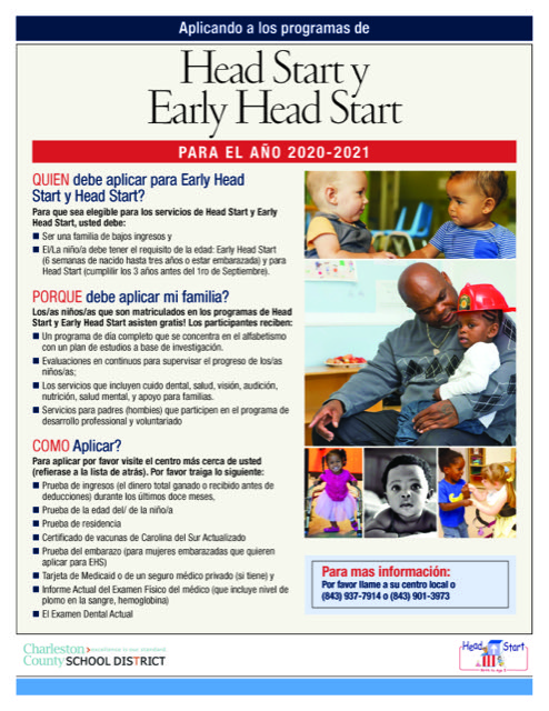 Head Start/Early Head Start Information for Parents