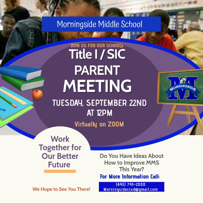 PLEASE JOIN US FOR OUR FIRST ANNUAL TITLE 1 MEETING AND FIRST SIC MEETING