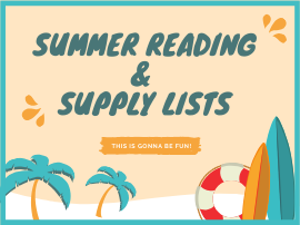 Summer Reading & Supply Lists