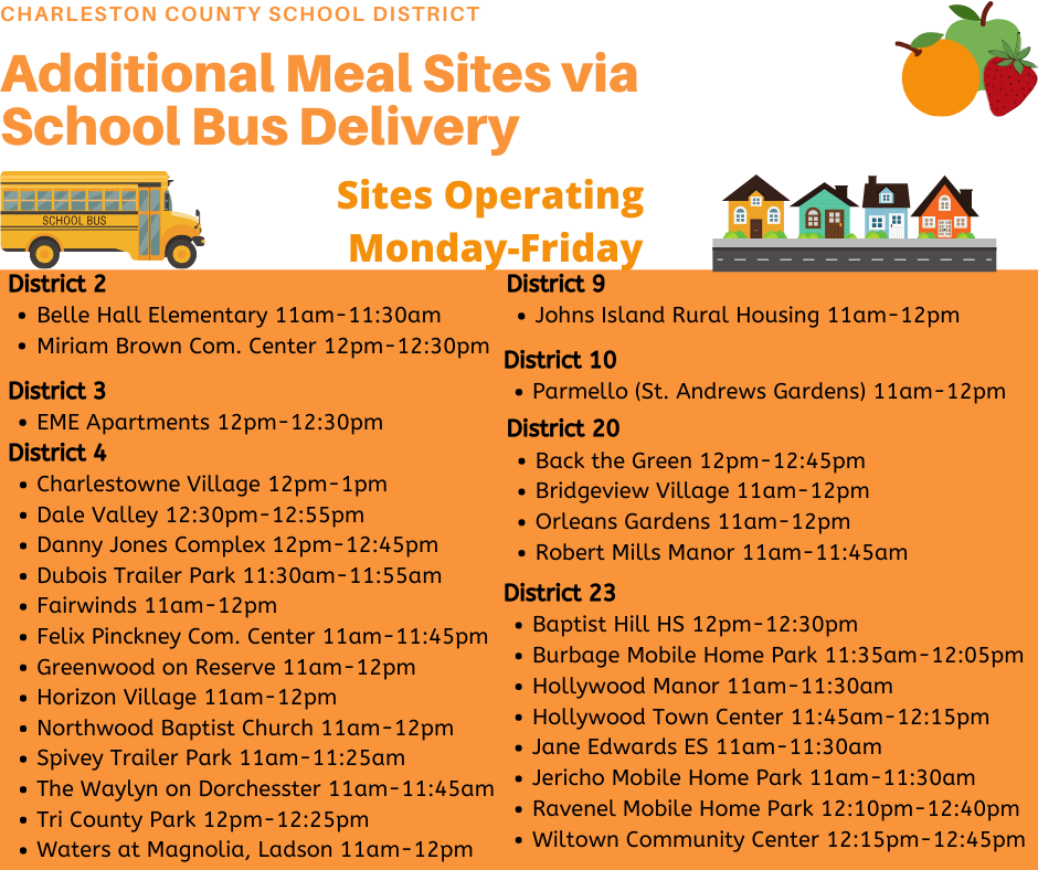 Meal Sites with Bus Delivery