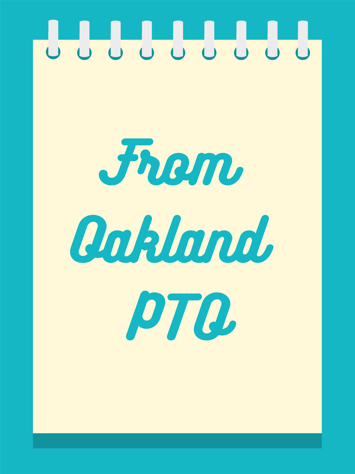 notebook clipart with text that says PTO update