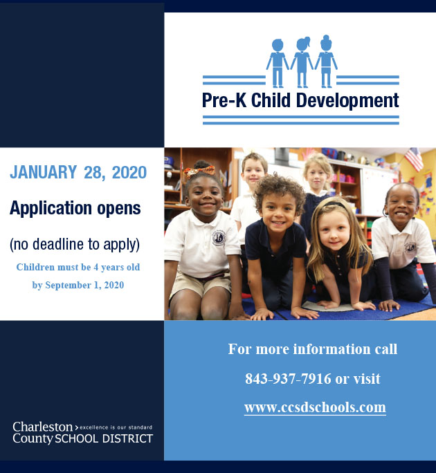 Pre-K Child Development Applications Open January 28th.