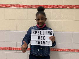 Congratulations to Eu'Mani Kendrick-Barron for winning the Pepperhill Elementary 2020 Spelling Bee!