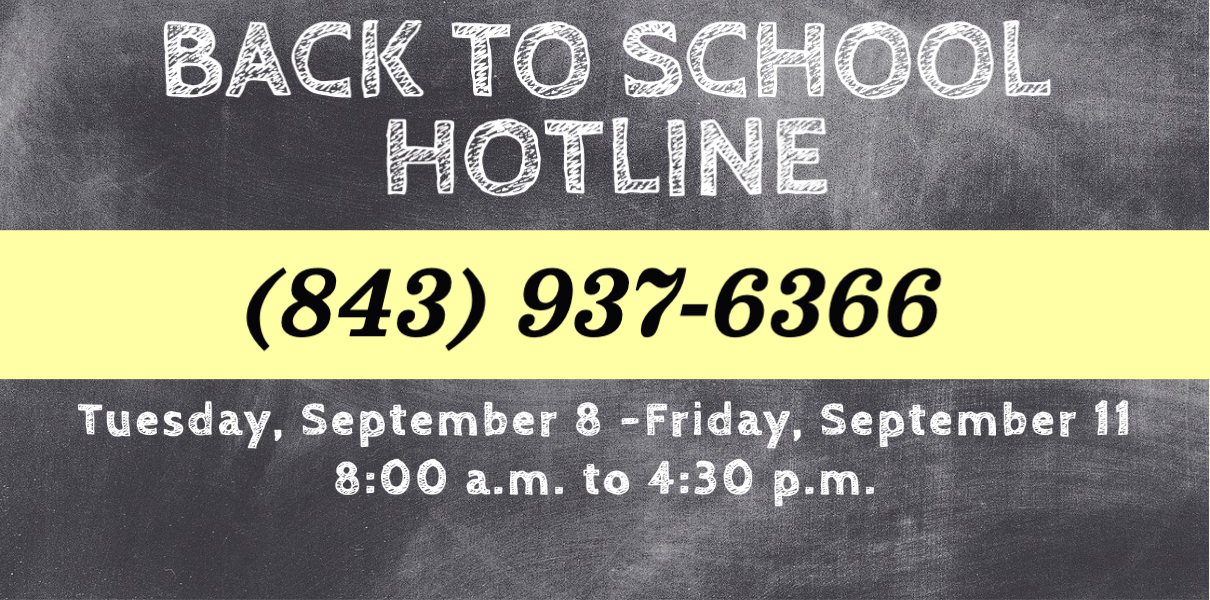 Back to school support hotline logo document