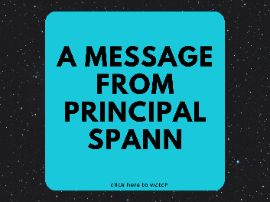 click for a video message from principal spann