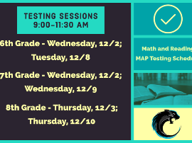 MAP testing schedule