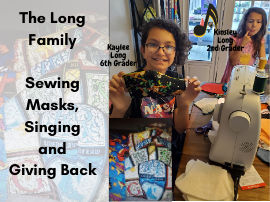 Sewing Masks and Giving Back
