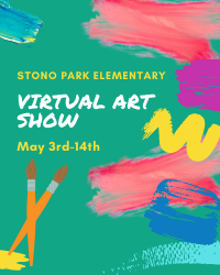 Virtual Art Show with paintbrush