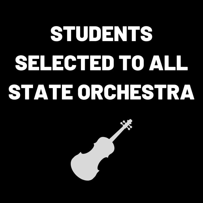 students selected to all state orchestra