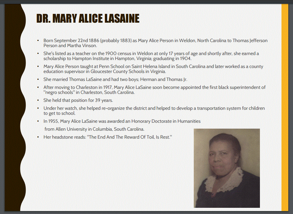 Image and bio of Mary Alice LaSaine